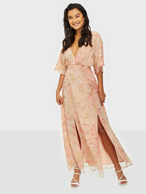 Glamorous V Neck Puffy Maxi Dress