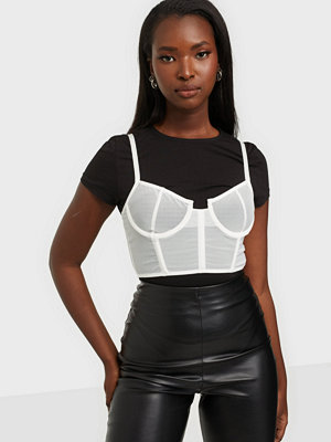 Missguided Mesh Corset Bralet