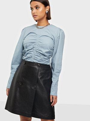 Selected Femme Slfalberte Mw Leather Skirt W