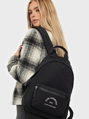 Karl Lagerfeld svart väska Rue St Guillaume Medium Backpack