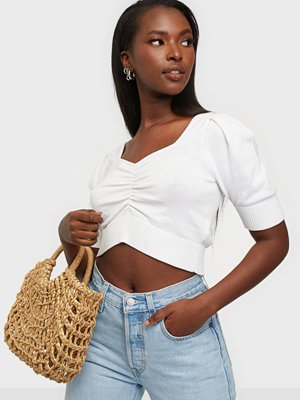 Glamorous Cropped Puff Blouse