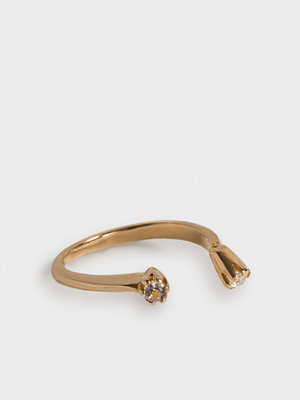 Cornelia Webb svart smycke WARPED OPEN RING