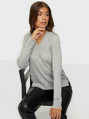 Calvin Klein Ls Wool Blend Pointelle Sweater