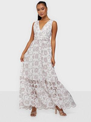 True Decadence Multi Broderie Belt Maxi Dress