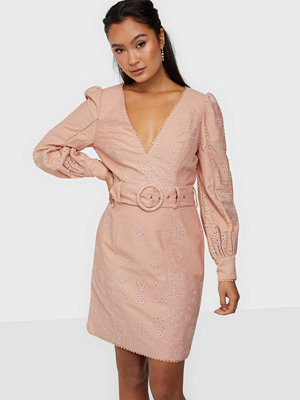True Decadence Long Sleeve V Neck Mini Dress