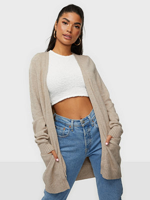 Vila Viril Open L/S Knit Cardigan - Noos Natural