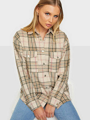 Skjortor - NLY Trend Long Check Shirt