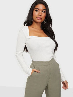 NLY Trend Square Detail Rib Top