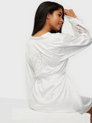 Morgonrockar - Hunkemöller Bride Satin Lace Kimono