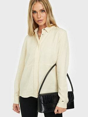 Calvin Klein Ls Tencel Side Split Shirt