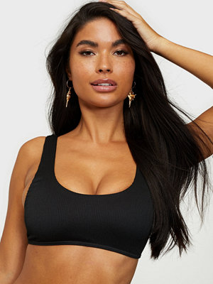 Missguided Rib Sport Crop Bikini Top