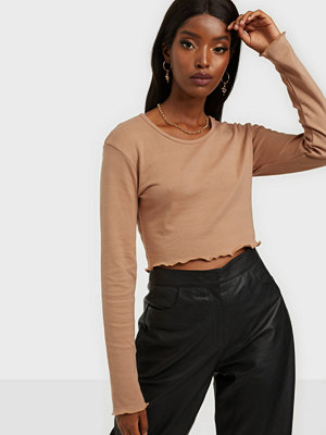 Missguided Long Sleeve Crop Top 2 pack