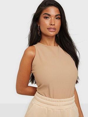 Missguided Ribbed High Neck Racer Body