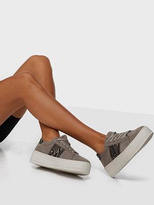 Duffy Faux Suede Snake Platform Sneaker
