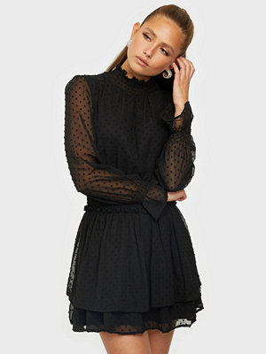 Missguided High Neck Shirred Waist Dress