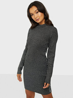 Calvin Klein Jeans Silver Plaited Mn Sweater Dress