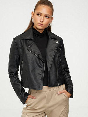 Missguided Ultimate Boxy Faux Leather Jacket
