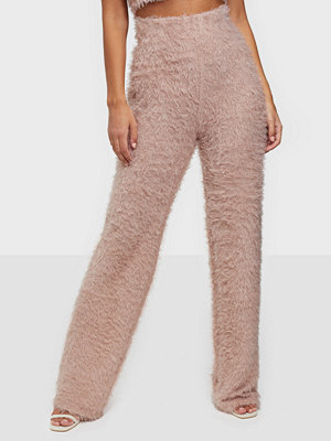 NLY One beige byxor Fluffy Pant