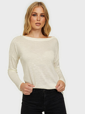 Pieces Pcnollie Ls O-Neck Top Noos