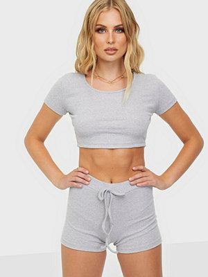 Parisian Rib Crop Top & Running Shorts