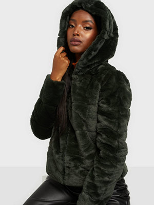 Only Onlchris Fur Hooded Jacket Otw Noos Rosin