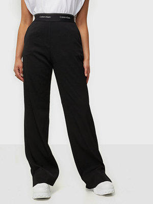 Calvin Klein svarta byxor Elasticated Wide Leg Pant