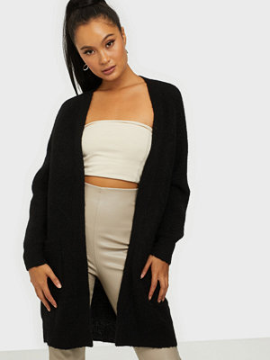 Selected Femme Slflulu Ls Knit Long Cardigan Noos Black