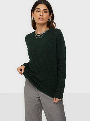 Selected Femme Slflulu Ls Knit O-Neck Noos Scarab