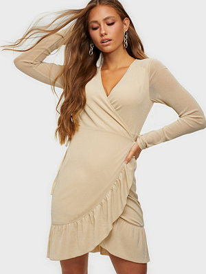 Noisy May NMSHIMMY L/S WRAP FRILL DRESS