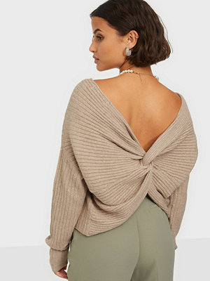 Pieces PCSUNA LS DRAPE BACK KNIT BC