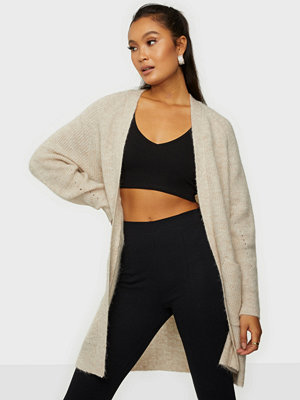 Selected Femme Slflulu Ls Knit Long Cardigan Noos Birch