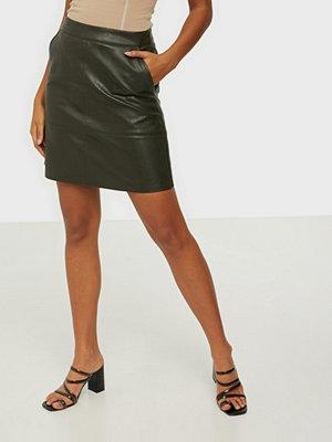 Only Onllisa Faux Leather Skirt Cc Otw Rosin