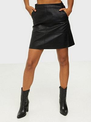 Only Onllisa Faux Leather Skirt Cc Otw Black