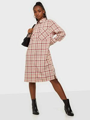 Y.a.s Yasebru Ls Checked Long Shirt Dress