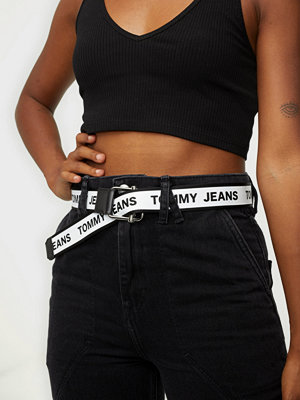 Tommy Jeans Tjw Logo Tape Rev Web Belt 3.5