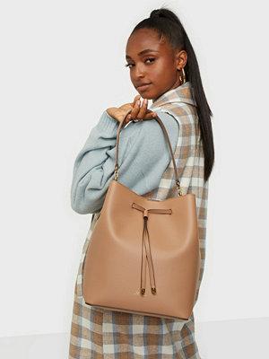 Handväskor - Lauren Ralph Lauren Super Smooth Leathr-Debby-Drw-Med