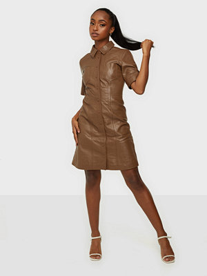 Y.a.s YASLIVANA SS SHIRT LEATHER DRESS