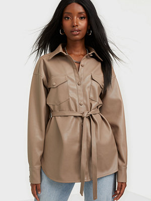 Skjortor - NLY Trend Belted Pu Shirt