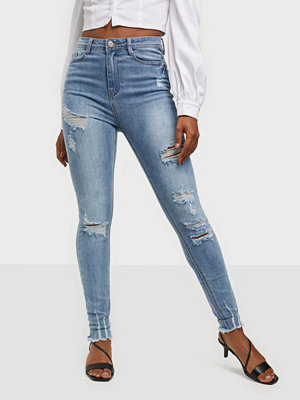 Missguided Highwaisted Authentic Skinny Wash