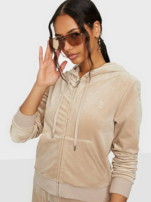 Tröjor - Juicy Couture Robertson Classic Velour Zip Trough Hoodie