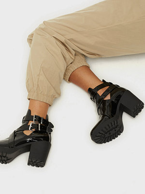 NLY Shoes Buckle Heel Boot