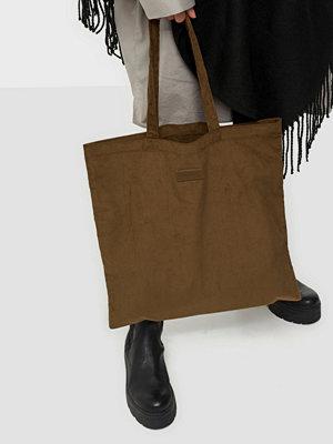 NuNoo omönstrad väska Shopper corduroy