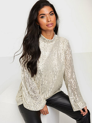 NLY Trend High Neck Sequin Blouse