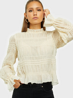 NLY Trend Ruched Glitter Blouse