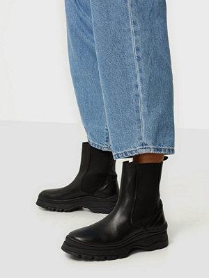 Boots & kängor - Pieces PSSELIONE LEATHER BOOT