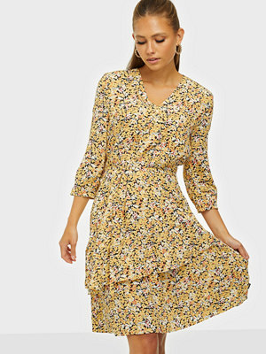 Calvin Klein LS V-NK FRILL DETAIL DRESS