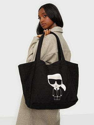 Karl Lagerfeld svart väska med tryck K/Ikonik Karl Tote