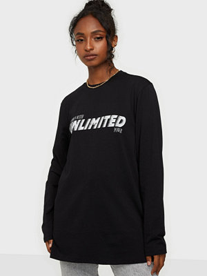 NLY Trend Oversize LS Statement Tee
