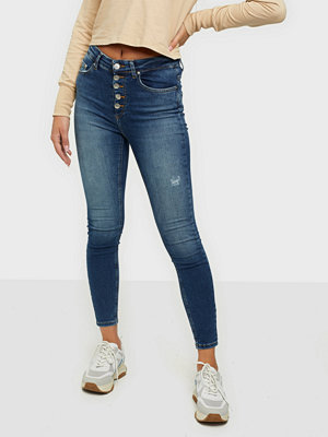 Only ONLBLUSH HW BUTTON SK ANK JEANS REA