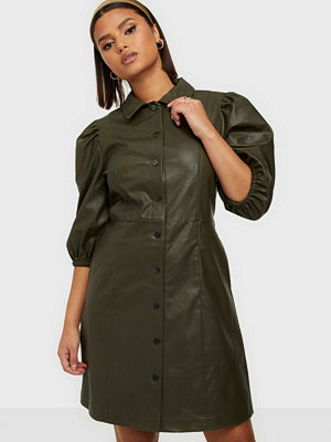Only ONLRILLA PUFF FAUX LEATHER DRESS PN